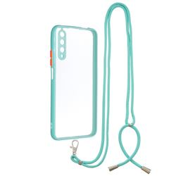 Necklace Cross-body Lanyard Strap Cord Phone Case Cover for Huawei Honor 9X - Blue