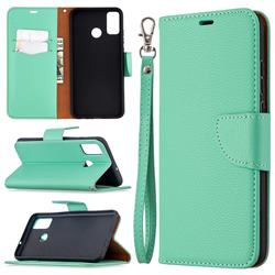 Classic Luxury Litchi Leather Phone Wallet Case for Huawei Honor 9X Lite - Green