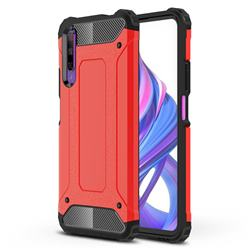 King Kong Armor Premium Shockproof Dual Layer Rugged Hard Cover for Huawei Honor 9X Pro - Big Red