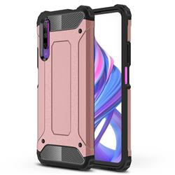King Kong Armor Premium Shockproof Dual Layer Rugged Hard Cover for Huawei Honor 9X Pro - Rose Gold