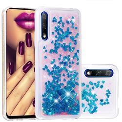 Dynamic Liquid Glitter Quicksand Sequins TPU Phone Case for Huawei Honor 9X Pro - Blue