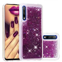 Dynamic Liquid Glitter Quicksand Sequins TPU Phone Case for Huawei Honor 9X Pro - Purple