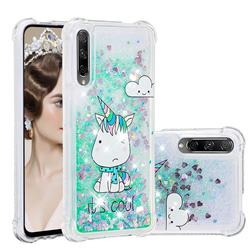 Tiny Unicorn Dynamic Liquid Glitter Sand Quicksand Star TPU Case for Huawei Honor 9X Pro