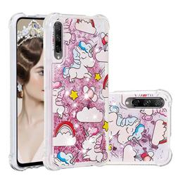 Angel Pony Dynamic Liquid Glitter Sand Quicksand Star TPU Case for Huawei Honor 9X Pro