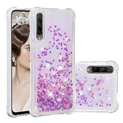 Dynamic Liquid Glitter Sand Quicksand Star TPU Case for Huawei Honor 9X Pro - Rose