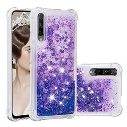Dynamic Liquid Glitter Sand Quicksand Star TPU Case for Huawei Honor 9X Pro - Purple