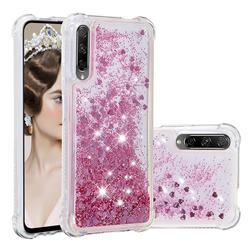 Dynamic Liquid Glitter Sand Quicksand Star TPU Case for Huawei Honor 9X Pro - Diamond Rose