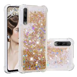 Dynamic Liquid Glitter Sand Quicksand Star TPU Case for Huawei Honor 9X Pro - Diamond Gold