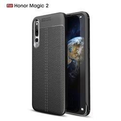 Luxury Auto Focus Litchi Texture Silicone TPU Back Cover for Huawei Honor Magic 2 - Black