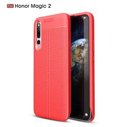 Luxury Auto Focus Litchi Texture Silicone TPU Back Cover for Huawei Honor Magic 2 - Red