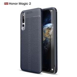 Luxury Auto Focus Litchi Texture Silicone TPU Back Cover for Huawei Honor Magic 2 - Dark Blue