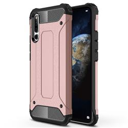King Kong Armor Premium Shockproof Dual Layer Rugged Hard Cover for Huawei Honor Magic 2 - Rose Gold