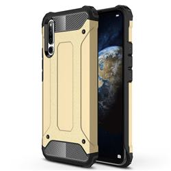 King Kong Armor Premium Shockproof Dual Layer Rugged Hard Cover for Huawei Honor Magic 2 - Champagne Gold