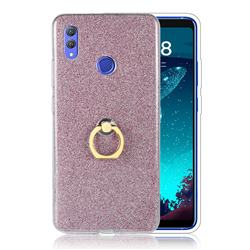 Luxury Soft TPU Glitter Back Ring Cover with 360 Rotate Finger Holder Buckle for Huawei Honor Note 10 - Pink