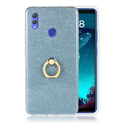 Luxury Soft TPU Glitter Back Ring Cover with 360 Rotate Finger Holder Buckle for Huawei Honor Note 10 - Blue
