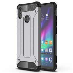 King Kong Armor Premium Shockproof Dual Layer Rugged Hard Cover for Huawei Honor Note 10 - Silver Grey