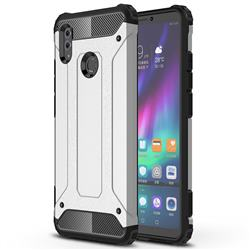 King Kong Armor Premium Shockproof Dual Layer Rugged Hard Cover for Huawei Honor Note 10 - Technology Silver