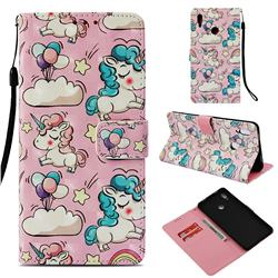 Angel Pony 3D Painted Leather Wallet Case for Huawei Honor Note 10