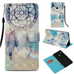 Fantasy Campanula 3D Painted Leather Wallet Case for Huawei Honor Note 10