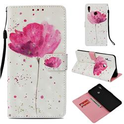 Watercolor 3D Painted Leather Wallet Case for Huawei Honor Note 10