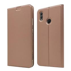 Ultra Slim Card Magnetic Automatic Suction Leather Wallet Case for Huawei Honor Note 10 - Rose Gold