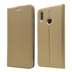 Ultra Slim Card Magnetic Automatic Suction Leather Wallet Case for Huawei Honor Note 10 - Champagne
