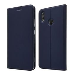 Ultra Slim Card Magnetic Automatic Suction Leather Wallet Case for Huawei Honor Note 10 - Royal Blue