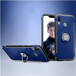 Armor Anti Drop Carbon PC + Silicon Invisible Ring Holder Phone Case for Huawei Honor Play(6.3 inch) - Sapphire