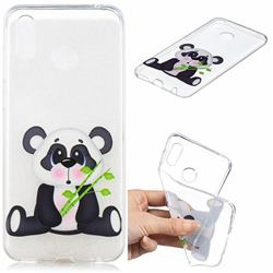 Bamboo Panda Clear Varnish Soft Phone Back Cover for Huawei Honor Play(6.3 inch)
