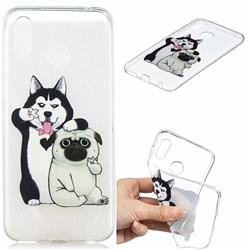Selfie Dog Clear Varnish Soft Phone Back Cover for Huawei Honor Play(6.3 inch)