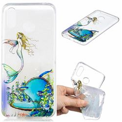 Mermaid Clear Varnish Soft Phone Back Cover for Huawei Honor Play(6.3 inch)