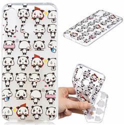 Mini Panda Clear Varnish Soft Phone Back Cover for Huawei Honor Play(6.3 inch)