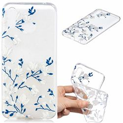 Magnolia Flower Clear Varnish Soft Phone Back Cover for Huawei Honor Play(6.3 inch)
