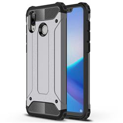 King Kong Armor Premium Shockproof Dual Layer Rugged Hard Cover for Huawei Honor Play(6.3 inch) - Silver Grey