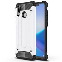 King Kong Armor Premium Shockproof Dual Layer Rugged Hard Cover for Huawei Honor Play(6.3 inch) - White
