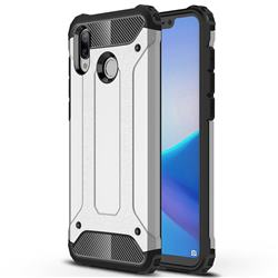 King Kong Armor Premium Shockproof Dual Layer Rugged Hard Cover for Huawei Honor Play(6.3 inch) - Technology Silver