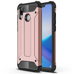 King Kong Armor Premium Shockproof Dual Layer Rugged Hard Cover for Huawei Honor Play(6.3 inch) - Rose Gold
