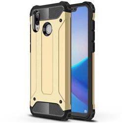 King Kong Armor Premium Shockproof Dual Layer Rugged Hard Cover for Huawei Honor Play(6.3 inch) - Champagne Gold