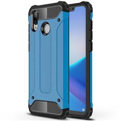 King Kong Armor Premium Shockproof Dual Layer Rugged Hard Cover for Huawei Honor Play(6.3 inch) - Sky Blue