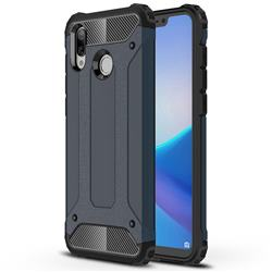 King Kong Armor Premium Shockproof Dual Layer Rugged Hard Cover for Huawei Honor Play(6.3 inch) - Navy