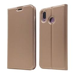 Ultra Slim Card Magnetic Automatic Suction Leather Wallet Case for Huawei Honor Play(6.3 inch) - Rose Gold