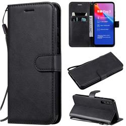 Retro Greek Classic Smooth PU Leather Wallet Phone Case for Huawei Honor Play 3 - Black