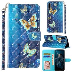 Rankine Butterfly 3D Leather Phone Holster Wallet Case for Huawei Honor Play 3