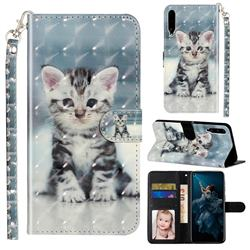 Kitten Cat 3D Leather Phone Holster Wallet Case for Huawei Honor Play 3