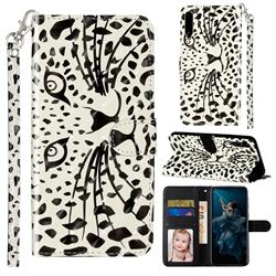 Leopard Panther 3D Leather Phone Holster Wallet Case for Huawei Honor Play 3
