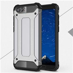 King Kong Armor Premium Shockproof Dual Layer Rugged Hard Cover for Huawei Honor View 10 (V10) - Silver Grey