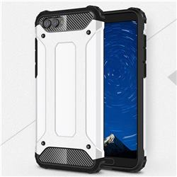 King Kong Armor Premium Shockproof Dual Layer Rugged Hard Cover for Huawei Honor View 10 (V10) - White