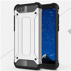 King Kong Armor Premium Shockproof Dual Layer Rugged Hard Cover for Huawei Honor View 10 (V10) - Technology Silver