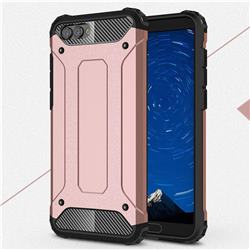 King Kong Armor Premium Shockproof Dual Layer Rugged Hard Cover for Huawei Honor View 10 (V10) - Rose Gold