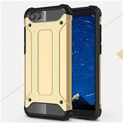 King Kong Armor Premium Shockproof Dual Layer Rugged Hard Cover for Huawei Honor View 10 (V10) - Champagne Gold